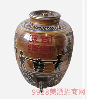 百老泉酒50斤酱香瓷缸