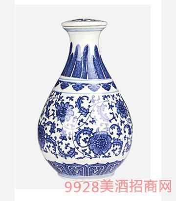 2斤青花玉壶瓶酒