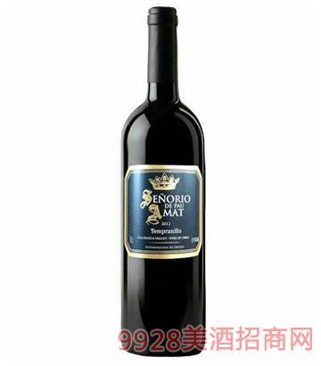 智利红酒金爵保罗丹魄干红葡萄酒