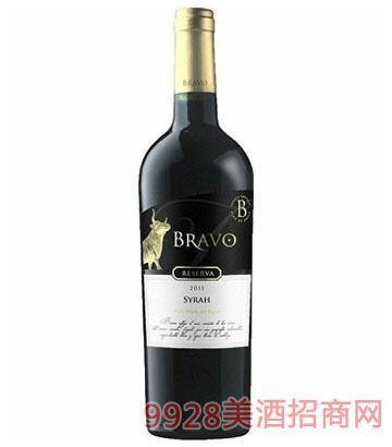 智利红酒布拉沃西拉珍藏干红葡萄酒14.5度
