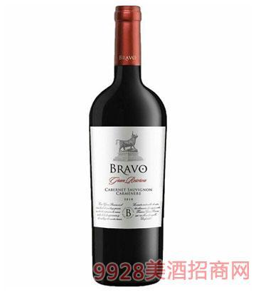 智利红酒布拉沃精选陈酿干红葡萄酒14.5度