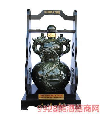 坛子酒墨绿双龙戏珠5-10斤