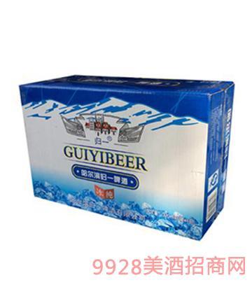 哈尔滨归一啤酒冰纯320ml×6罐×4包