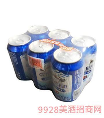 哈尔滨归一啤酒冰纯320ml×6