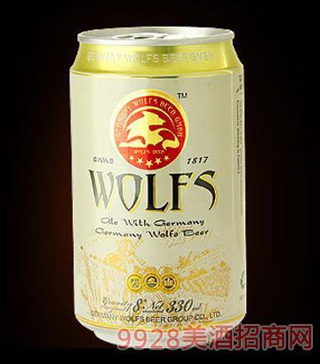 候爵德国WOLFS狼堡高端夜场啤酒330x24罐
