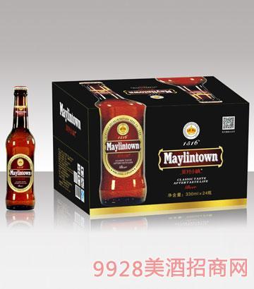 美林小镇330棕瓶啤酒