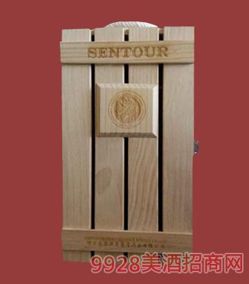 圣图酒堡双支木盒