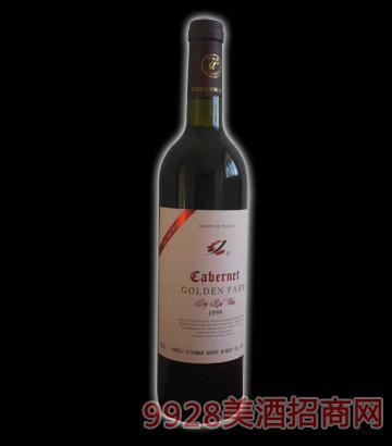 农庄1999英文干红葡萄酒