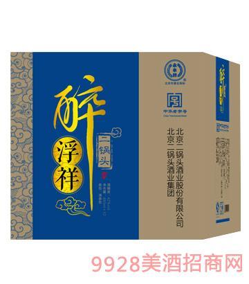 醉浮祥二锅头酒箱装(蓝)42度480ml清香型