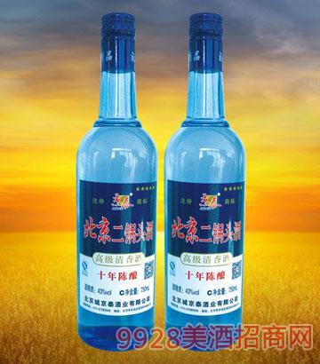 北京二锅头10年陈酿750ml酒
