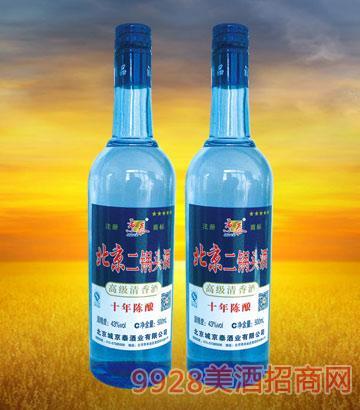 北京二锅头10年陈酿500ml酒