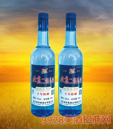 北京二锅头10年陈酿250ml酒