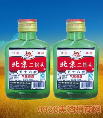 56°北京二锅头(小绿)100mlx40酒
