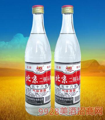 56°北京二锅头(大白)500mlx12酒