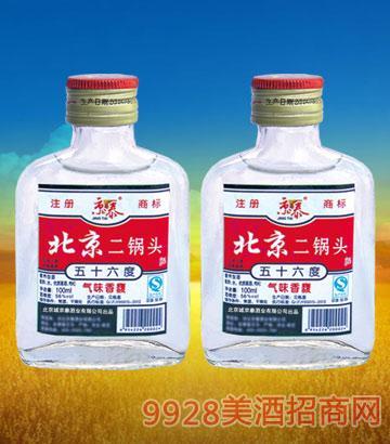 56°北京二锅头(小白)100mlx40酒