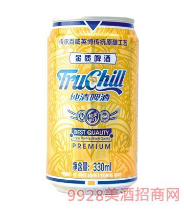 纯清金质啤酒拉罐330ml