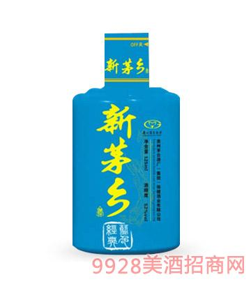 新茅乡酒蓝色经典52度125mlx24