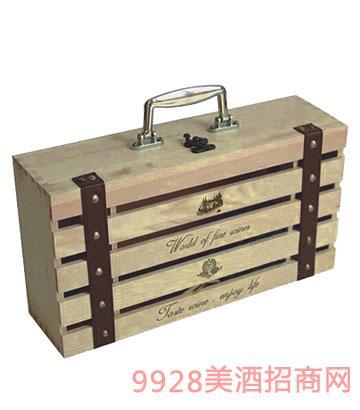 BZ005-�p只�b木盒葡萄酒包�b