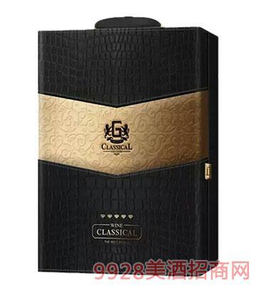 BZ001-双只皮盒葡萄酒包装