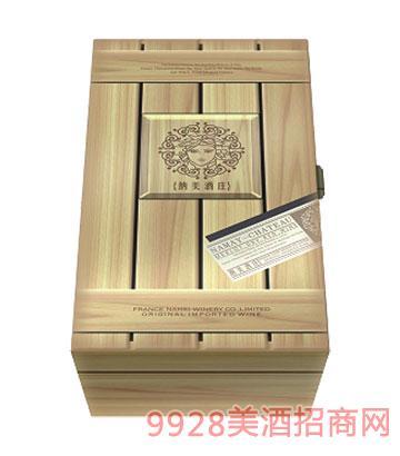 BN008-纳美2支装木盒葡萄酒包装