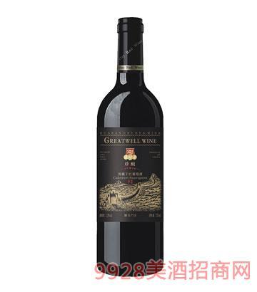 HX006-5星窖藏干�t葡萄酒