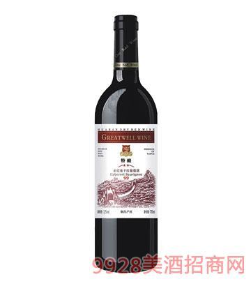 HX004-2星赤霞珠干�t葡萄酒
