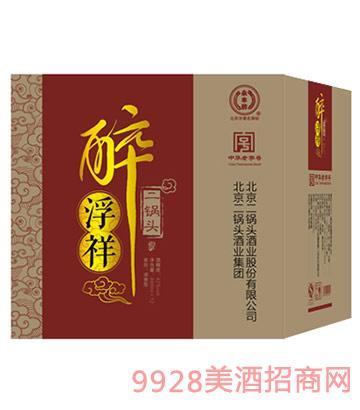 醉浮祥二锅头酒箱装(红)42度480ml清香型