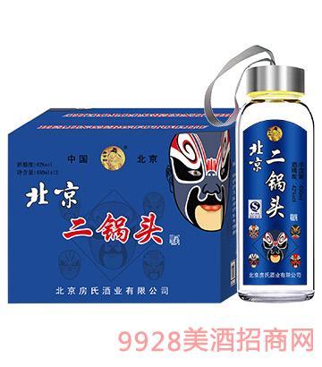 北京二锅头口杯酒450ml蓝