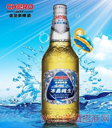 金龙泉488ml冰晶纯生啤酒