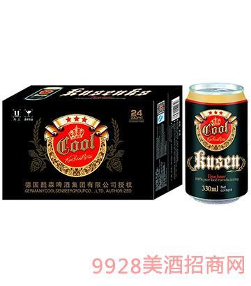 酷爽黑啤330mlx24啤酒