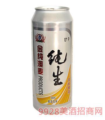 金纯澳麦纯生风味啤酒500ml
