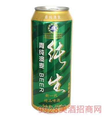 青纯澳麦纯生风味啤酒500ml