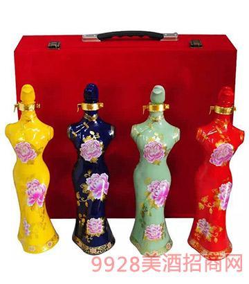 皖水坊坛子酒旗袍38度1500ml浓香型