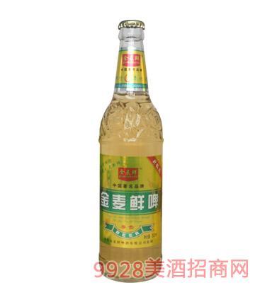500ml金麦鲜啤尊贵8°P-1X9塑包啤酒