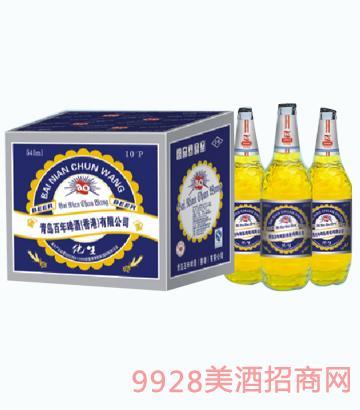 百年蓝色纯王啤酒