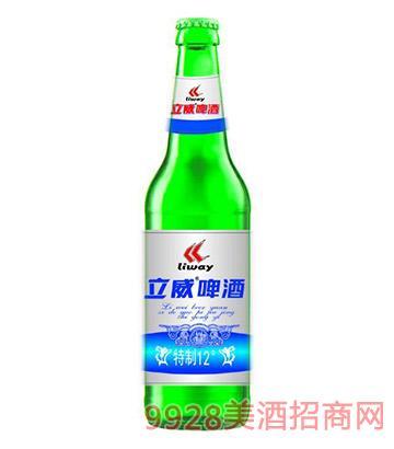立威啤酒特制12度绿瓶