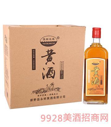 豫新龙潭黄酒优质陈酿扁平装