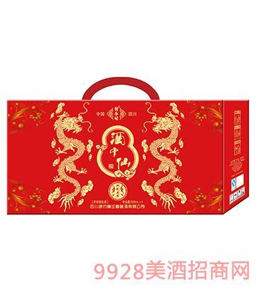酒中仙双龙4盒外箱