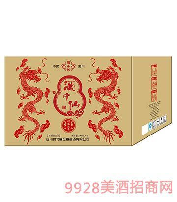 酒中仙双龙6盒外箱