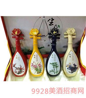 梅兰竹菊酒礼盒