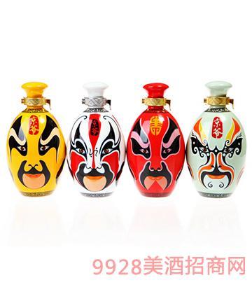 京爷脸谱4色酒