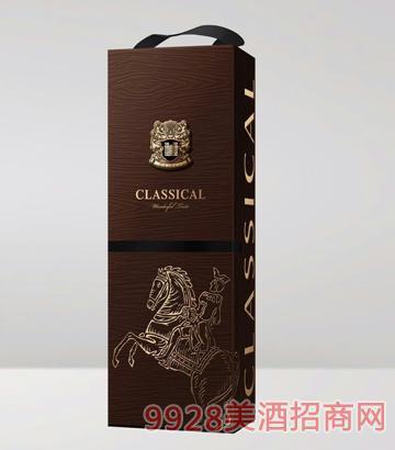 咖色单支盒葡萄酒