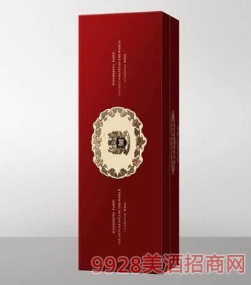 红色单支盒葡萄酒