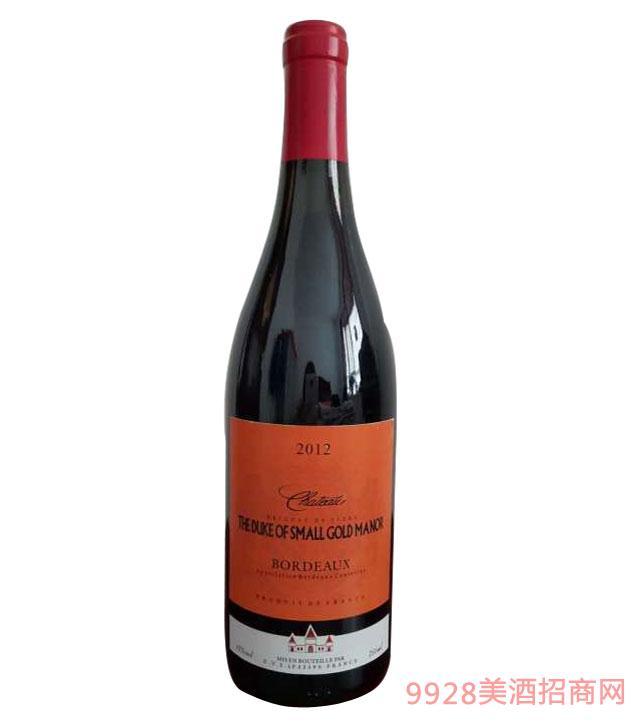 法国波尔多公爵小金奖庄园干红葡萄酒