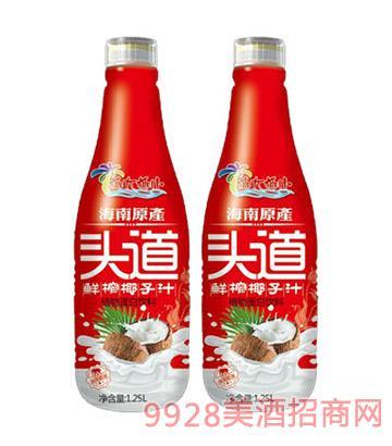 椰大椰小头道鲜榨椰子汁植物蛋白饮料1.25L