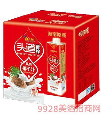 椰大椰小头道鲜榨椰子汁(1Lx8盒)