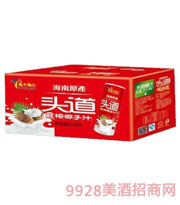 245ml椰大椰小头道鲜榨椰子汁1x15罐