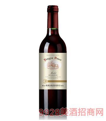 鹏九庄园美乐干红葡萄酒