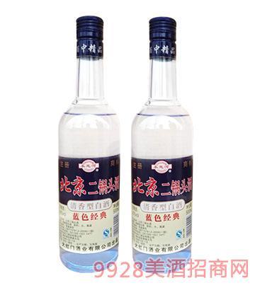 永定河北京二锅头酒蓝色经典42度500ml
