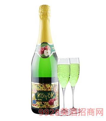 匈牙利原瓶进口气泡酒淘乐怡无醇苹果起泡酒